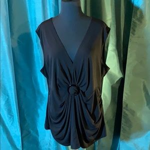 Cato Black  Chandelier SS Top Size 22/24W